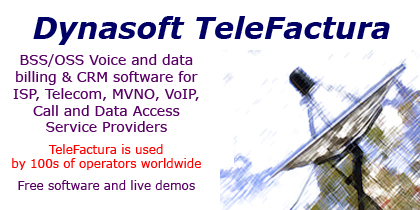 Dynasoft TeleFactura Telecom ISP Billing Screen shot
