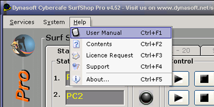 Click to view Dynasoft Cybercafe SurfShop Pro 5.06 screenshot